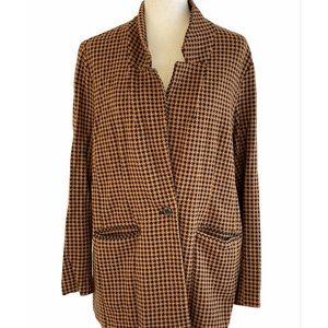 Old navy plaid blazer coat size extra large
